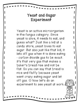 Yeast and Sugar Experiment Using the Scientific Method