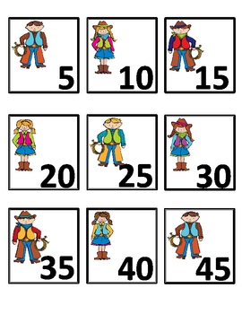 Yee Haw!  Let's Count Numeral Cards