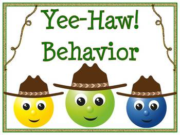Yee-Haw! Western Behavior Clip Chart