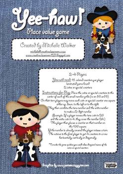 Yee-haw! Place Value Game