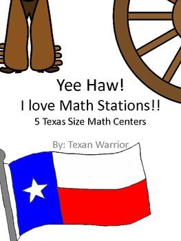 Yeehaw! I Love Math Stations!