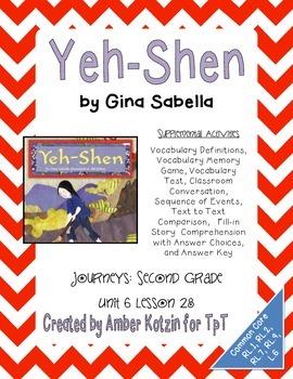 Yeh-Shen Supplemental Activities 2nd Grade Journeys Unit 6