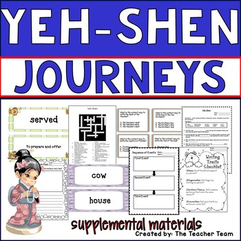 Yeh-Shen Journeys 2nd Grade Unit 6 Lesson 28 Activities & Printables