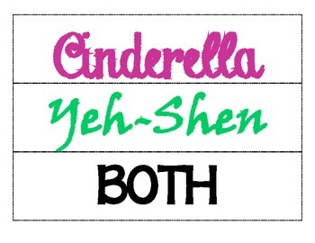 Yeh-Shen - Version Comparisons