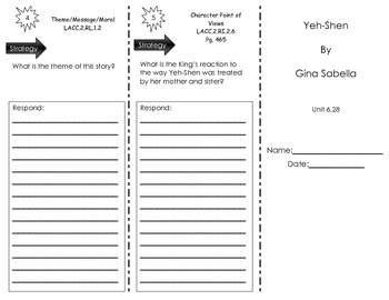 Yeh-Shen by Gina Sabella - Journeys Common Core- Houghton Mifflin Harcourt