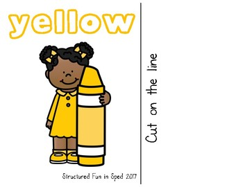 Yellow Adapted Book for Preschool, Pre-K and Special Needs