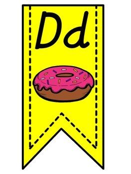 Yellow Alphabet Banner