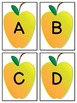 Yellow Apple Alphabet Letter Flashcards Uppercase and Lowercase