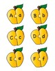 Yellow Apple Alphabet Letter Puzzle Games or Center Activity