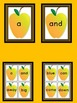 Yellow Apple Dolch Pre-Primer Sight Word Flashcards and Posters