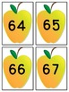 Yellow Apple Number Flashcards 0-100