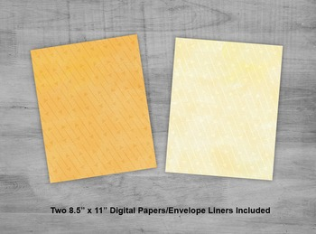Yellow Arrow Envelope - Printable A7 Watercolor Envelope Template For 5x7 Cards