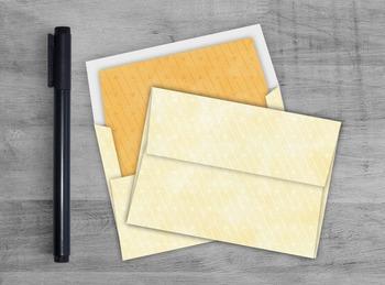 Yellow Arrow Envelope - Printable A7 Watercolor Envelope T