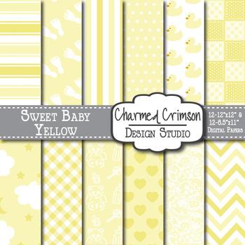Yellow Baby Digital Paper 1093