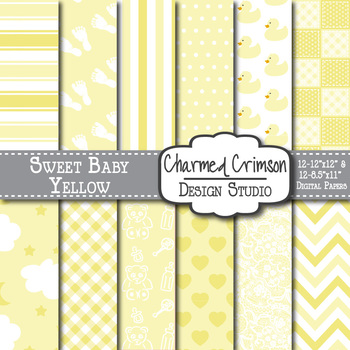 Yellow Baby Digital Paper 1093