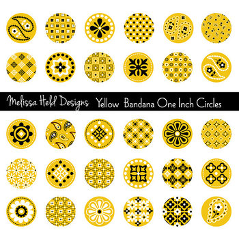 Yellow Bandana Circles