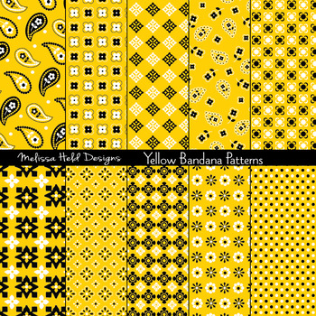 Bandana Patterns: Yellow
