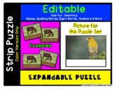 Yellow Bird - Expandable & Editable Strip Puzzle w/ Multip