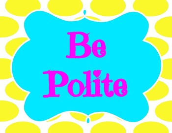 Yellow & Blue Bright Theme PBIS Posters