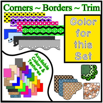 Yellow Borders Trim Corners * Create Your Own Dream Classroom / Daycare *