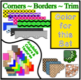 Yellow Borders Trim Corners * Create Your Own Dream Classr
