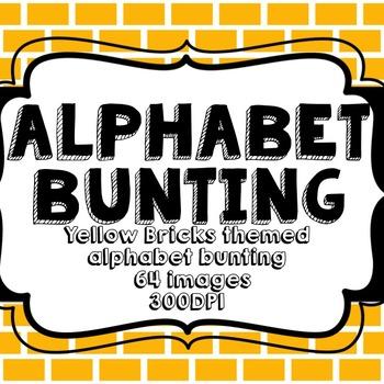 Yellow Brick Alphabet Bunting