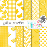 Yellow Butterfly Digital Paper