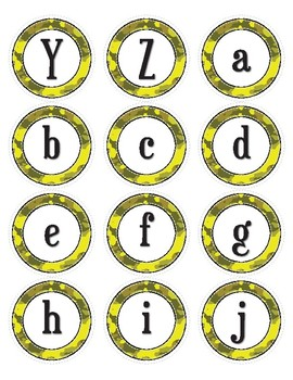 Yellow Camouflage Dot Labels