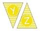 Yellow Chevron Alphabet Banner Set (upper & lowercase, num