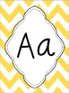 Yellow Chevron Alphabet (Cursive, Print, and Writing Cards)