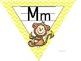 Yellow Chevron Animal Alphabet Triangle Banner