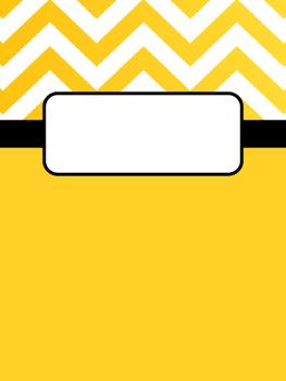 Yellow Chevron Binder Cover