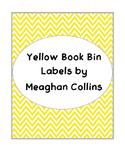Yellow Chevron Book Bin Labels