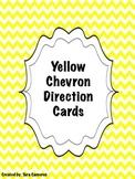 Yellow Chevron Cardinal Direction Cards