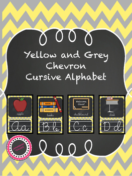 Yellow Chevron Chalkboard Theme