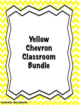 Yellow Chevron Classroom Bundle