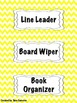 Yellow Chevron Classroom Bundle