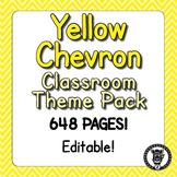Classroom Theme Decor / Organization - Mega Bundle (Editable!) - Yellow Chevron