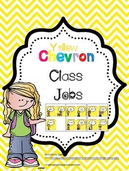 Yellow Chevron Classroom Jobs