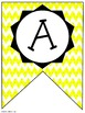 Yellow Chevron Classroom Pennants and Bunting (Letters, Nu