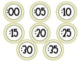 Yellow Chevron Clock Minutes