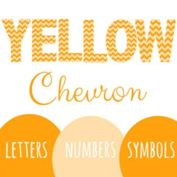 Yellow Chevron Letters!