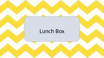 Yellow Chevron Lunch Choice