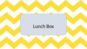 Yellow Chevron Lunch Choice