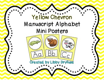 Alphabet Posters {Yellow Chevron}