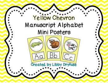 Alphabet Posters {Yellow Chevron}