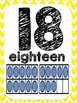 Yellow Chevron Number  Posters 1 to 20