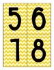 Yellow Chevron Numbers 1-10