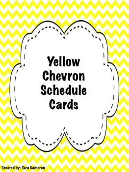 Yellow Chevron Schedule Cards