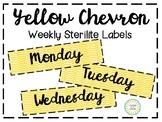Yellow Chevron Sterilite Labels (3 Drawer)